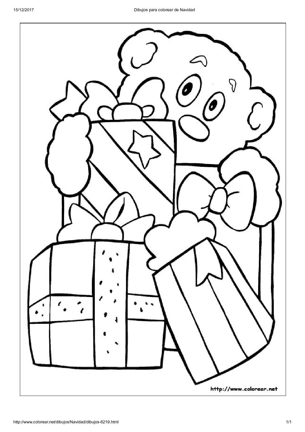 Agencia de niñeras en Madrid | Dibujos para colorear de Navidad8 ...